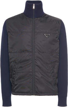 Prada High-Neck Shell Blouson Jacket