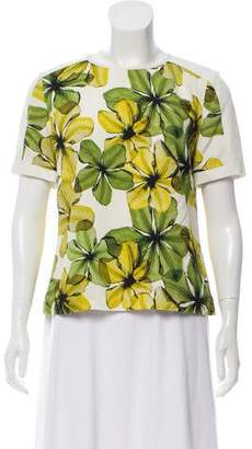 Jason Wu Short Sleeve Printed Top