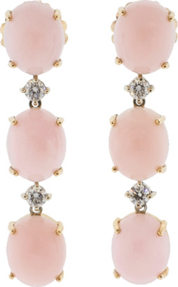 Irene Neuwirth JEWELRY Pink Opal And Diamond Earrings