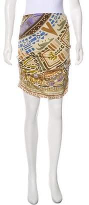Nicole Miller Silk Blend Mini Skirt