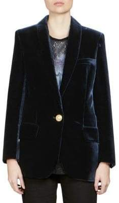 Balmain Velvet Single-Breasted Blazer