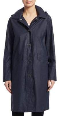 Jane Post Hooded Waxed Jacket