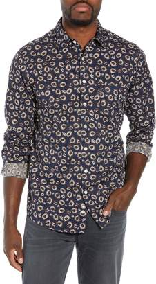 Rodd & Gunn Ellerby Regular Fit Sunflower Print Sport Shirt