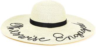 Eugenia Kim Bunny Embroidered Paper-blend Sunhat