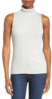 Women's Press Sleeveless Rib Knit Turtleneck $65 thestylecure.com