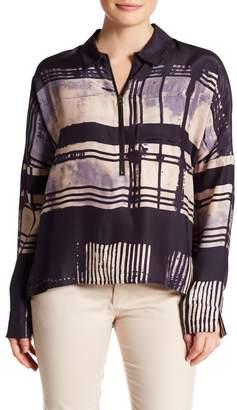 Go Silk Go by Zipline Dolman Sleeve Silk Blouse