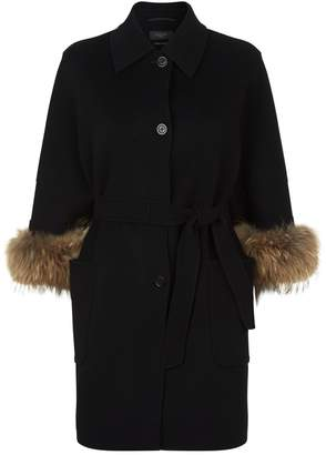 Max Mara King Fur Cuff Coat