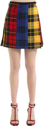 Mix & Match Wool Plaid Skirt