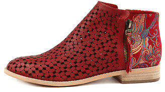 Django & Juliette New Alex Red Paisley Leather Red Red Paisley Womens Shoes