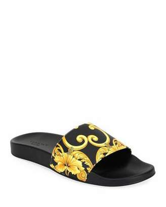 0c423b1892c Versace Men s Graphic-Print Tribute Slide Sandal