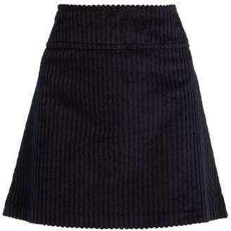 A.P.C. Wright Corduroy Mini Skirt - Womens - Navy