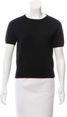 Gucci Wool Short Sleeve Top