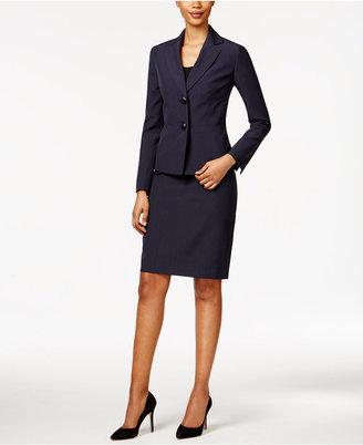 Le Suit Striped Seersucker Skirt Suit $200 thestylecure.com