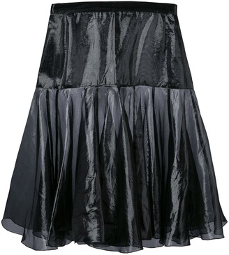 Krizia Pre-Owned flared layer skirt