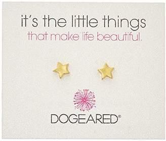 Dogeared It's The Little Things Star Stud Earrings