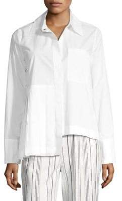 Robert Rodriguez Asymmetric Pleated Shirt