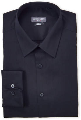 Van Heusen Black Stretch Slim Fit Dress Shirt