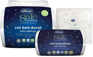 Silentnight 3 Piece Bedding Bundle (Cot Bed Pillow, Duvet & Duvet Set)