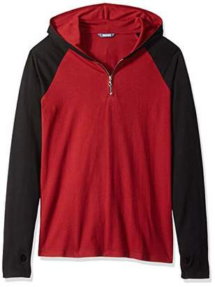 ROBUST Men's Full Sleeve Raglan Hooded Zipper T-Shirt with Thumbhole (Size-)