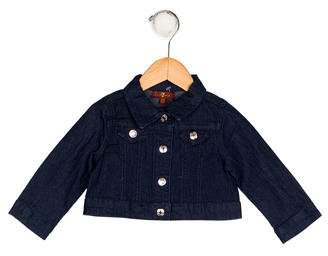 7 For All Mankind Seven Girls' Denim Collared Jacket w/ Tags