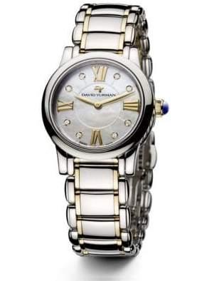 David Yurman Classic 30MM Stainless Steel and 18K Gold Quartz Watch with Diamonds