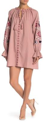 Free the Roses Embroidered Long Sleeve Dress