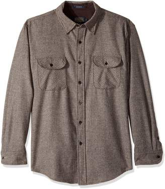 Pendleton Men's Long Sleeve Button Front Fitted Marverick Merino Shirt