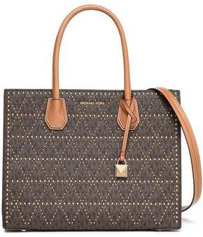 MICHAEL Michael Kors Studded Printed Leather Tote