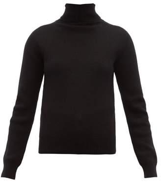 523eb5d5f6b Saint Laurent High Neck Ribbed Cashmere Sweater - Womens - Black