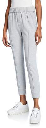 Enza Costa Pintuck Cropped Pull-On Jogger Pants