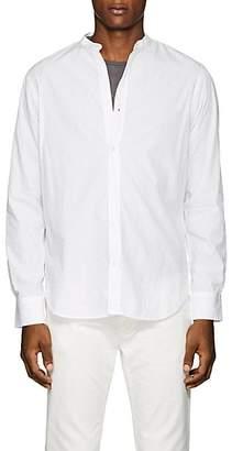 Officine Generale Men's Nep Cotton Banded-Collar Shirt - White