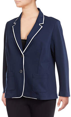 Rafaella Plus Solid Long-Sleeve Blazer