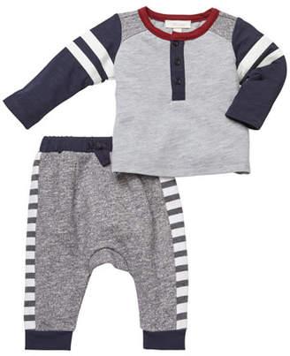 Miniclasix Baseball Tee w/ Knit Pants, Size 3-24 Months