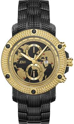 JBW Men's Veyron .18 ctw Diamond Ion-Plated Stainless Steel Watch J6360E