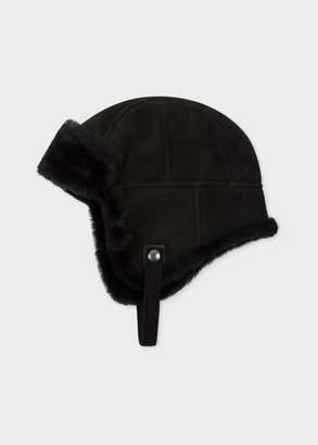 Paul Smith Men's Black Sheepskin Chapka Hat