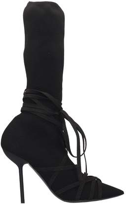 Taverniti So Ben Unravel Project High Heels Ankle Boots In Black Wool