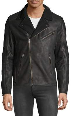 Selected Leather Bomber Jacket