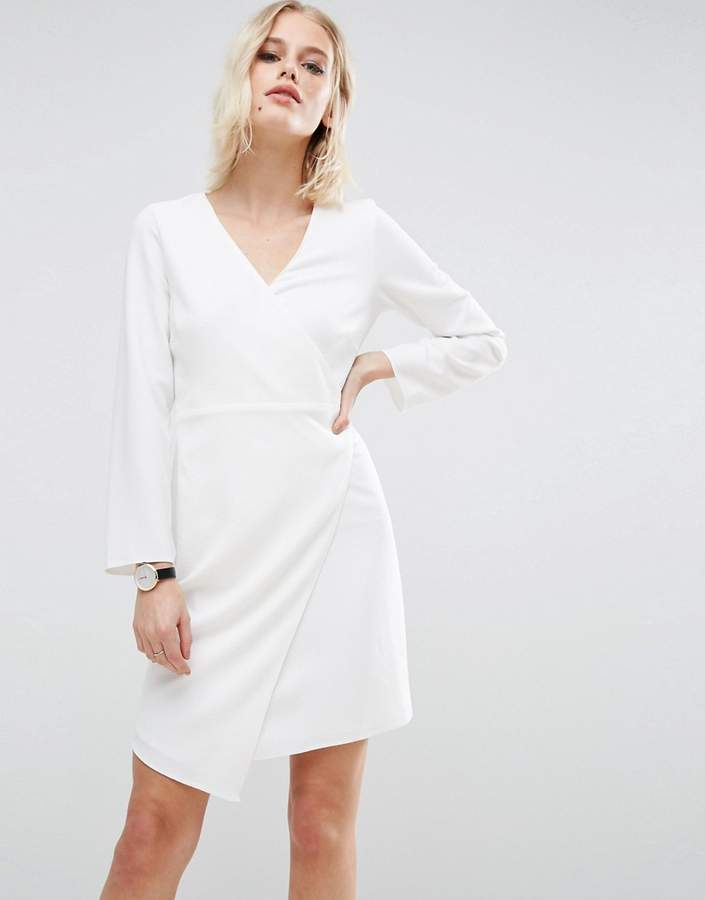 Asos ASOS Crepe Mini Wrap Dress