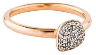 Monica Vinader Diamond Nura Mini Pebble Stacking Ring