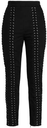 Zimmermann Lace-Up Twill Skinny Pants