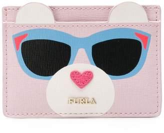 Furla teddy bear cardholder wallet