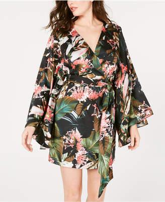 GUESS Pansy Printed Faux-Wrap Dress