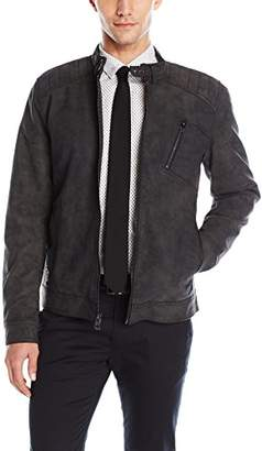 GUESS Men's Timothy Faux Suede Jacket