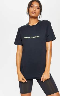 PrettyLittleThing Black Gym T-Shirt