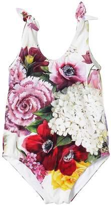 Dolce & Gabbana Floral Print Lycra One Piece Swimsuit