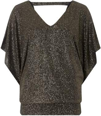 76e4f122a1bf01 Dorothy Perkins Womens **Billie & Blossom Tall Gold Batwing Top