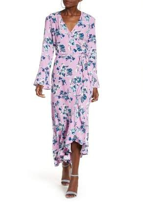 Leith Bell Sleeve Wrap Midi Dress (Plus Size)