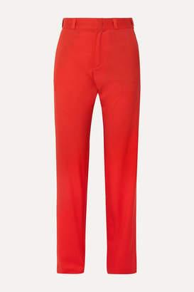 Vetements Wool Straight-leg Pants - Red