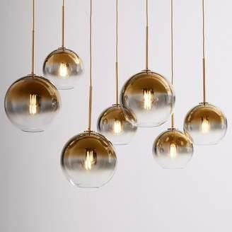 west elm Sculptural Glass Globe 7-Light Chandelier - Mixed (Metallic Ombre)