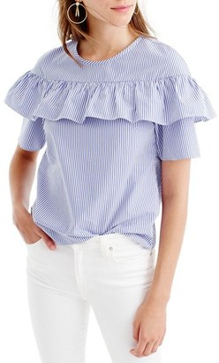 Women's J.crew 'Edie' Ruffle Top $59.50 thestylecure.com